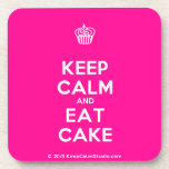 [Cupcake] keep calm and eat cake  Cork Coasters
