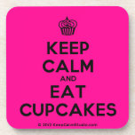 [Cupcake] keep calm and eat cupcakes  Cork Coasters