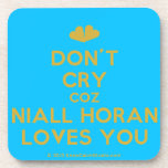 [Two hearts] don't cry coz niall horan loves you  Cork Coasters