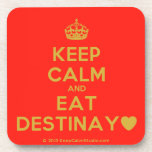 [Crown] keep calm and eat destinay♥  Cork Coasters