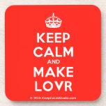 [Crown] keep calm and make lovr  Cork Coasters