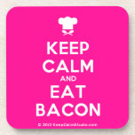 [Chef hat] keep calm and eat bacon  Cork Coasters