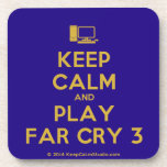 [Computer] keep calm and play far cry 3  Cork Coasters