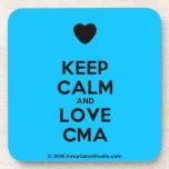 [Love heart] keep calm and love cma  Cork Coasters