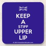 [UK Flag] keep a stiff upper lip  Cork Coasters