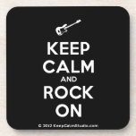 [Electric guitar] keep calm and rock on  Cork Coasters