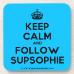 [Crown] keep calm and follow supsophie  Cork Coasters