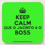 [Crown] keep calm que o jacinto é o boss  Cork Coasters