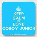 [Crown] keep calm and love coboy junior  Cork Coasters