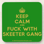 [Crown] keep calm and fuck with skeeter gang  Cork Coasters