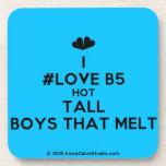 [Two hearts] i #love b5 hot tall boys that melt  Cork Coasters