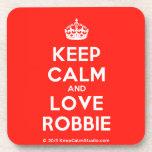 [Crown] keep calm and love robbie  Cork Coasters