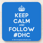 [Crown] keep calm and follow #dhc  Cork Coasters
