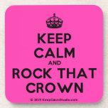 [Crown] keep calm and rock that crown  Cork Coasters