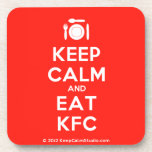 [Cutlery and plate] keep calm and eat kfc  Cork Coasters
