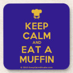 [Chef hat] keep calm and eat a muffin  Cork Coasters