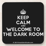 [Crown] keep calm and welcome to the dark room  Cork Coasters