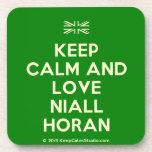 [UK Flag] keep calm and love niall horan  Cork Coasters