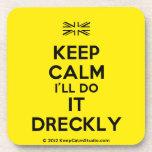 [UK Flag] keep calm i'll do it dreckly  Cork Coasters