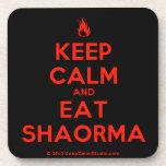 [Campfire] keep calm and eat shaorma  Cork Coasters