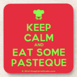 [Chef hat] keep calm and eat some pasteque  Cork Coasters
