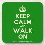 [Crown] keep calm and walk on  Cork Coasters