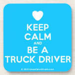 [Love heart] keep calm and be a truck driver  Cork Coasters