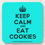 [Crown] keep calm and eat cookies  Cork Coasters
