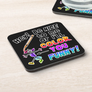 Cork Coasters - Color You Funny