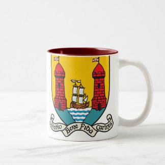 Cork Coat of Arms Two-Tone Coffee Mug