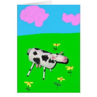 Cork Cow Moo Moo Card