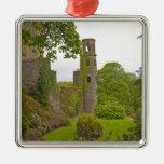 Cork, Ireland. The infamous Blarney Castle 2 Square Metal Christmas Ornament