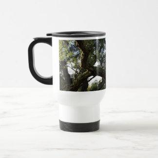 Cork oak or tree of the cork, elegant tree 15 oz stainless steel travel mug