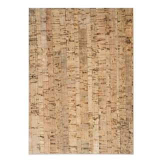Cork-oak pattern 5x7 paper invitation card