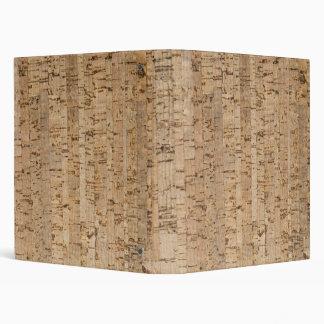 Cork oak pattern 3 ring binder