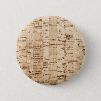 Cork oak pattern button
