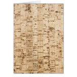 Cork oak pattern greeting cards