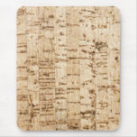 Cork oak pattern mouse pad