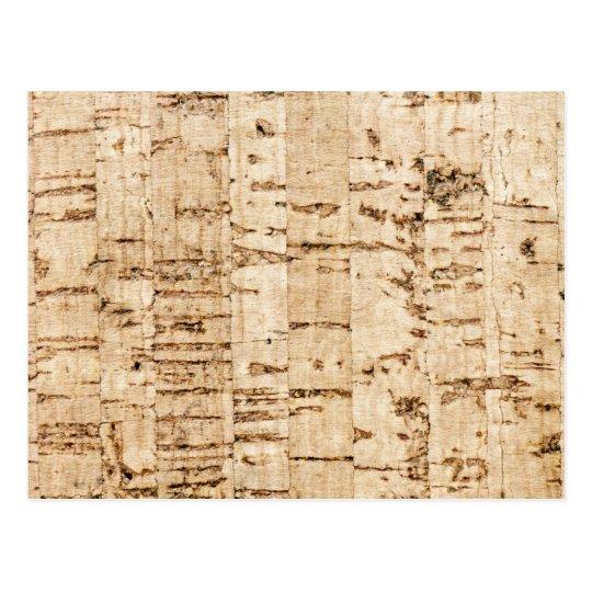 Cork oak pattern postcard