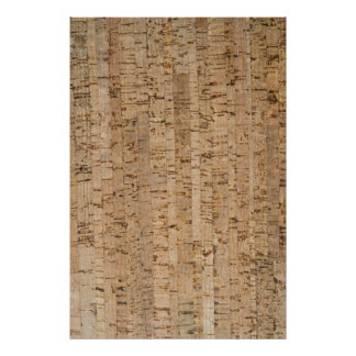 Cork-oak pattern poster
