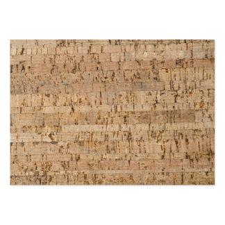 Cork-oak texture business cards