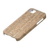 Cork-oak texture iphone 5 cases