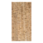 Cork-oak texture photo card template