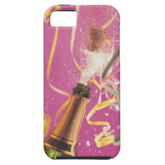 Cork popping on champagne during celebration iPhone 5 covers