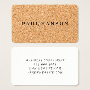 Hiring agency gifts on zazzle cork print business card reheart Images