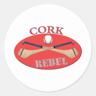 Cork Rebels Classic Round Sticker