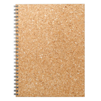 Cork texture notebook