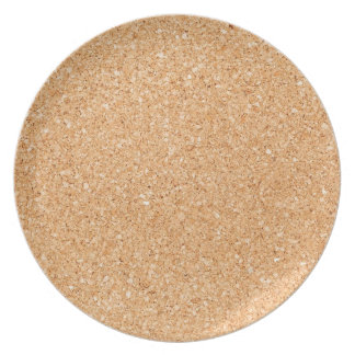 Cork texture dinner plate