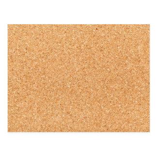 Cork texture postcard