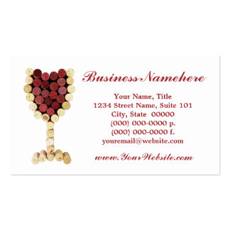 Cork Wine Glass Business Cards